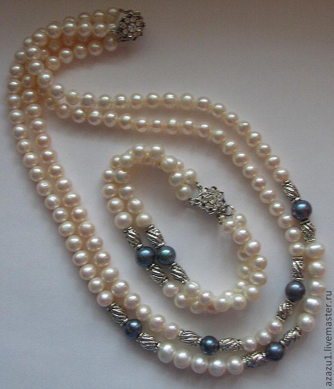 Ожерелье и браслет из жемчуга