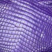 Материалы для творчества handmade. Livemaster - original item Crocodile skin, haberdashery dressing, purple color.. Handmade.