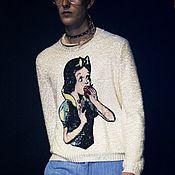 Материалы для творчества handmade. Livemaster - original item SNOW white applique embroidered sequins. Handmade.