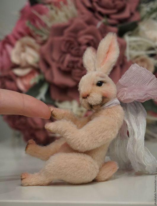 Мишки Тедди ручной работы. Ярмарка Мастеров - ручная работа. Купить Apricot rabbit. Handmade. Мишка тедди, зайка, мини
