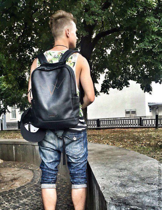 Рюкзаки ручной работы. Ярмарка Мастеров - ручная работа. Купить C031. Handmade. Черный, рюкзак ручной работы, кожа натуральная