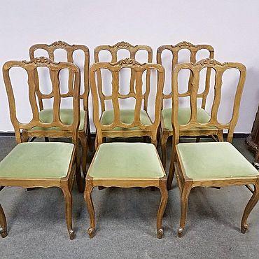 Мебель ручной работы. Ярмарка Мастеров - ручная работа Комплект из 6-ти стульев Луи XV, Франция, 1950-ые гг. Handmade.
