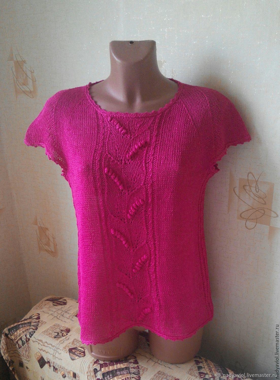 linen blouse 'Pink fuchsia', Sweater Jackets, Severodvinsk,  Фото №1