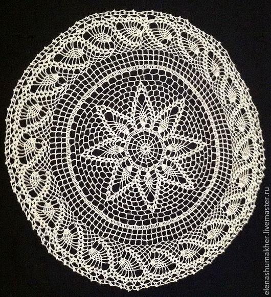 Текстиль, ковры ручной работы. Ярмарка Мастеров - ручная работа. Купить Салфетка крючком Ананасики. Handmade. Белый, Салфетка вязаная