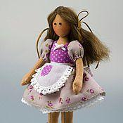 Куклы и игрушки ручной работы. Ярмарка Мастеров - ручная работа Кукла тильда Фиалка, минидолли. Handmade.