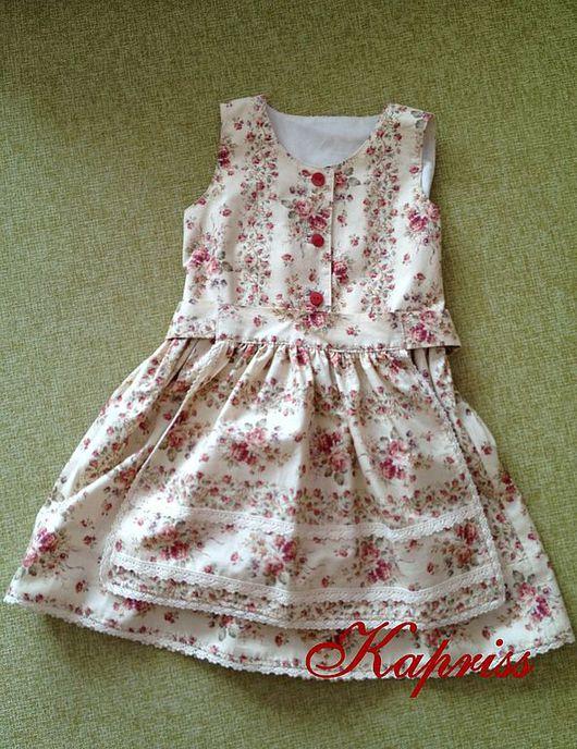 платье с фартучком