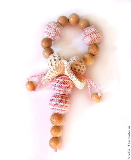 """Развивающие игрушки ручной работы. Ярмарка Мастеров - ручная работа. Купить Грызунок-прорезыватель """"Зефирка"""". Handmade. Розовый, грызунок"""