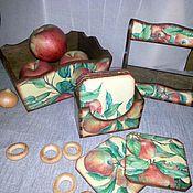 """Для дома и интерьера ручной работы. Ярмарка Мастеров - ручная работа Набор """"Яблочки"""". Handmade."""
