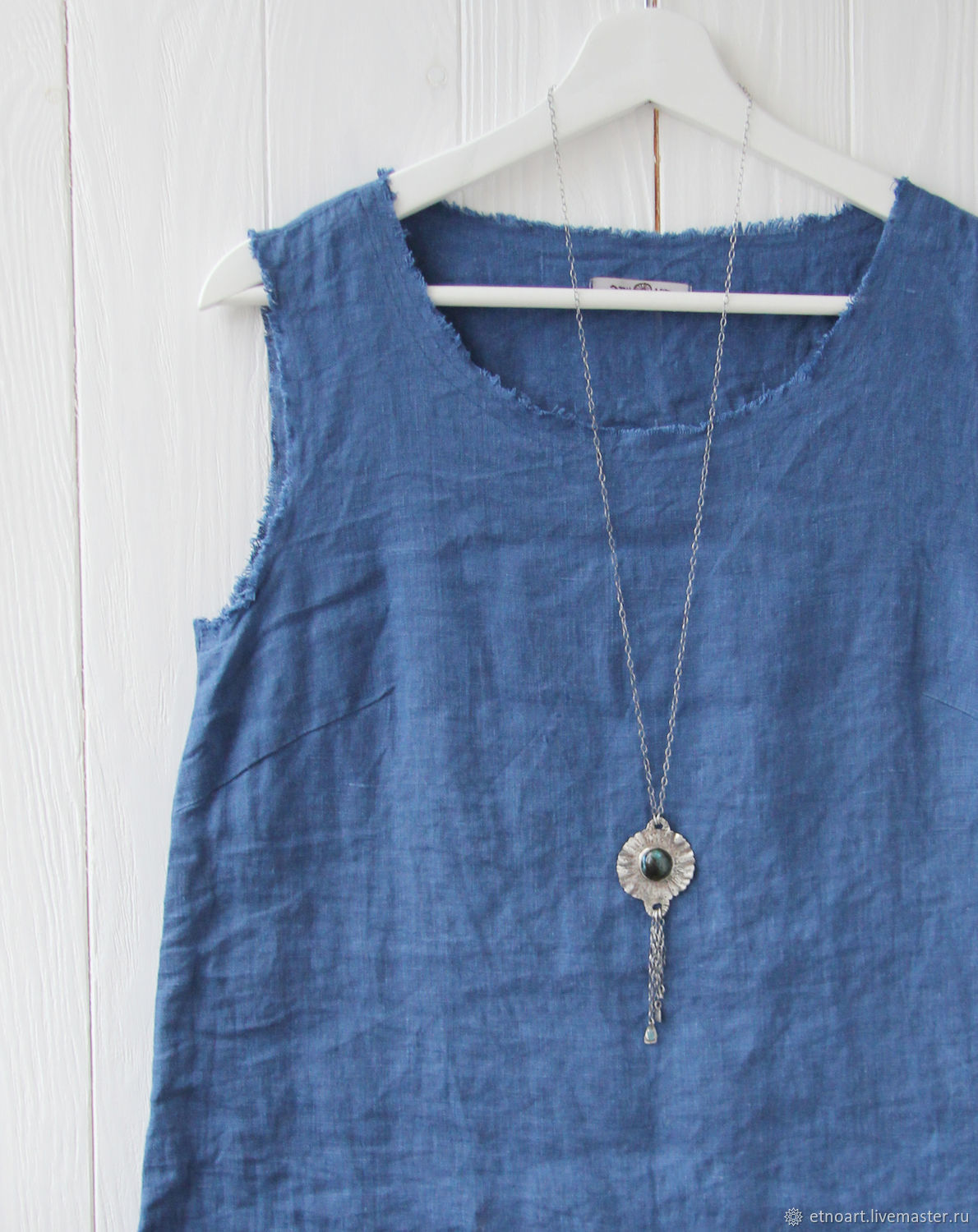 Linen top with open edges, Blouses, Tomsk,  Фото №1