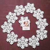 Для дома и интерьера handmade. Livemaster - original item Snowflake crochet. Stands for mugs, glasses.. Handmade.