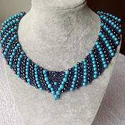 Украшения handmade. Livemaster - original item Evening necklace with turquoise and hematoma. Handmade.