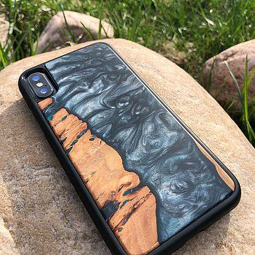 Сумки и аксессуары ручной работы. Ярмарка Мастеров - ручная работа Чехол река на iPhone X. Handmade.