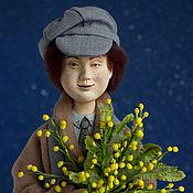 Куклы и пупсы ручной работы. Ярмарка Мастеров - ручная работа Кукла Ангел с мимозой. Handmade.