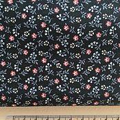 Материалы для творчества handmade. Livemaster - original item Cotton Korea dark blue in small flower. Handmade.