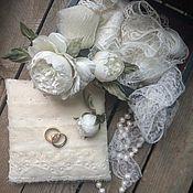 """Свадебный салон ручной работы. Ярмарка Мастеров - ручная работа Шпильки свадебные. """"Белый Пион"""". Handmade."""