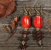 """Украшения ручной работы. Ярмарка Мастеров - ручная работа Серьги """"Осенние ягоды"""". Handmade."""