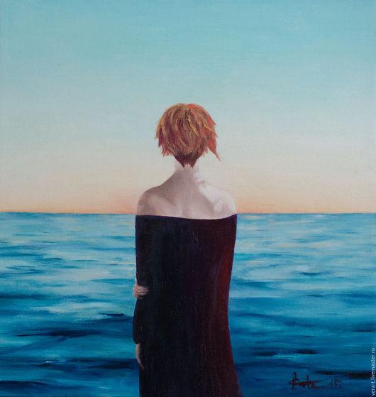 """Пейзаж ручной работы. Ярмарка Мастеров - ручная работа. Купить Картина """"Сны о море"""". Handmade. Морская волна, морская тема"""