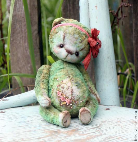 Мишки Тедди ручной работы. Ярмарка Мастеров - ручная работа. Купить Дуняша. Handmade. Тёмно-бирюзовый, роккоко, мулине