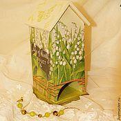 """Для дома и интерьера ручной работы. Ярмарка Мастеров - ручная работа Чайный домик """"Ландыши"""". Handmade."""