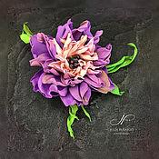 Украшения handmade. Livemaster - original item Brooch - flower Tamarana. Handmade.