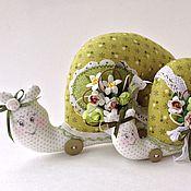 Куклы и игрушки ручной работы. Ярмарка Мастеров - ручная работа Улитки: Фисташка и Фисташечка. Handmade.