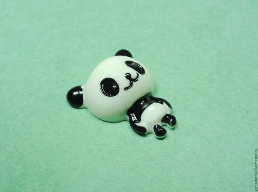 """Для украшений ручной работы. Ярмарка Мастеров - ручная работа. Купить Кабошон """"Маленький панда"""". Handmade. Кабошон, кабошон с картинкой"""
