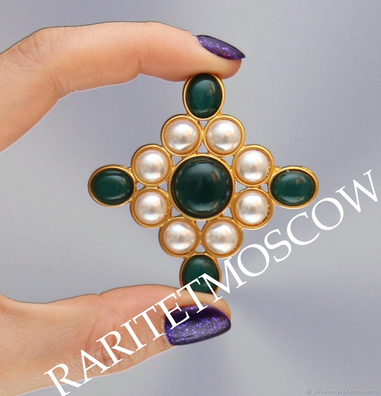 Винтаж: БРОШЬ мальтийский крест в стиле Chanel 426, Броши винтажные, Москва,  Фото №1