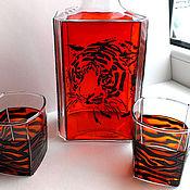 Посуда ручной работы. Ярмарка Мастеров - ручная работа Набор для виски «Тигр». Handmade.