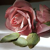 """Украшения ручной работы. Ярмарка Мастеров - ручная работа шпилька с розовой розой """" бархатная"""". Handmade."""