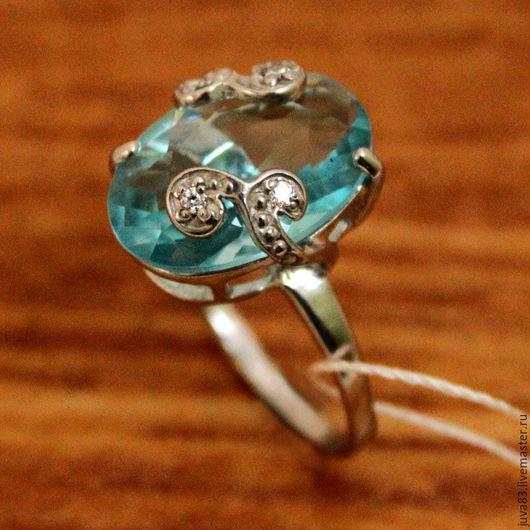 Кольца ручной работы. Ярмарка Мастеров - ручная работа. Купить Серебряное кольцо Небо, серебро 925. Handmade. Голубой
