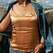 Одежда ручной работы. Ярмарка Мастеров - ручная работа Топ из натурального шелка ( стрейч). Handmade.