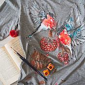 Одежда handmade. Livemaster - original item longsleve bullfinches. Handmade.