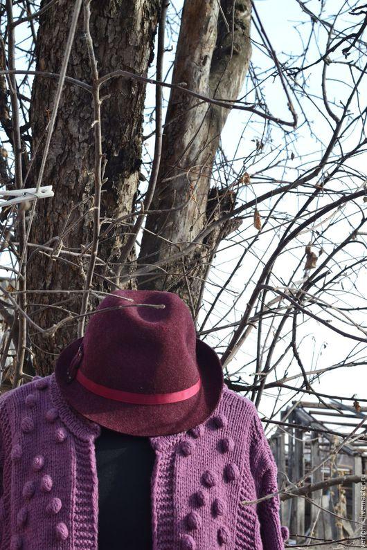 Кофты и свитера ручной работы. Ярмарка мастеров- ручная работа. Купить кардиган вязаный `Вереск` . Handmade. Кардиган. Сиреневый.Магазин мастера Доминика.