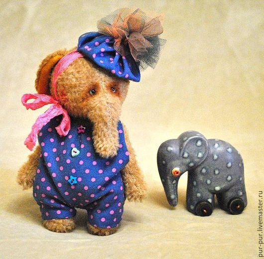 Мишки Тедди ручной работы. Ярмарка Мастеров - ручная работа. Купить Маленький клоун Жу Жу. Handmade. Желтый, слоны