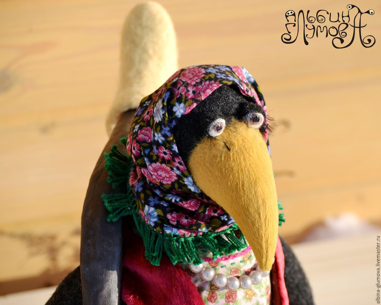ВОРОНА МАТРЕНА, авторская текстильная кукла, Мягкие игрушки, Пермь,  Фото №1