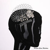 Свадебный салон handmade. Livemaster - original item Hair accessories, barrette, comb, flower, hair decoration. Handmade.