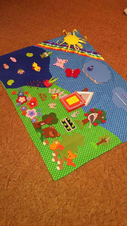 Развивающие игрушки ручной работы. Ярмарка Мастеров - ручная работа. Купить Развивающий коврик. Handmade. Развивающий коврик, хлопок