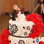 """Свадебный салон ручной работы. Ярмарка Мастеров - ручная работа Фигурки на торт """"Поцелуй"""". Handmade."""