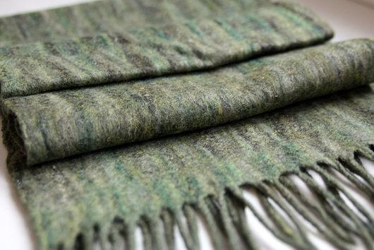 """Шарфы и шарфики ручной работы. Ярмарка Мастеров - ручная работа. Купить Валяный мужской шарф """"Forest"""". Handmade. Валяный шарф"""