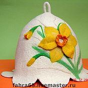 """Для дома и интерьера ручной работы. Ярмарка Мастеров - ручная работа Банная шапка """"Нарцисс"""". Handmade."""