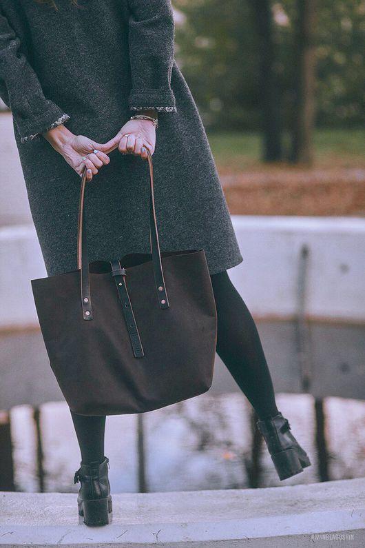 Женские сумки ручной работы. Ярмарка Мастеров - ручная работа. Купить Сумка ТОУТ / сумка мешок / Кожаная сумка. Handmade.