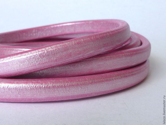 Для украшений ручной работы. Ярмарка Мастеров - ручная работа. Купить Шнур Регализ 10х6мм розовый перламутровый. Handmade.