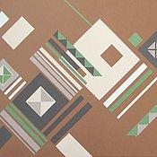 Картины и панно ручной работы. Ярмарка Мастеров - ручная работа Геометрическая композиция 2. Handmade.