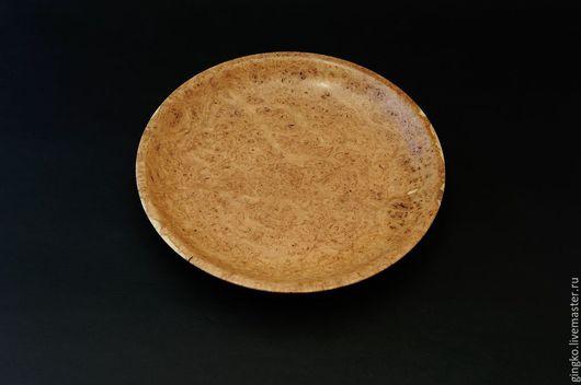 Декоративная посуда ручной работы. Ярмарка Мастеров - ручная работа. Купить Тарелка из дерева. Кап акации.. Handmade. Желтый, посуда