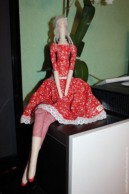 Куклы Тильды ручной работы. Ярмарка Мастеров - ручная работа. Купить Тильда Принцесса.. Handmade. Ярко-красный, принцесса тильда