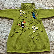 Работы для детей, handmade. Livemaster - original item coat the rainforest author`s knitted. Handmade.