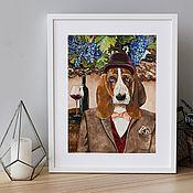 Картины и панно handmade. Livemaster - original item Basset hound. Poster. Handmade.