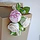 Свадебные украшения ручной работы. Цветы для прически с бутоном пиона и чайными розами. Юлия Шепелева Lovely Flowers Lab. Интернет-магазин Ярмарка Мастеров.