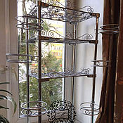 Цветы и флористика handmade. Livemaster - original item The rack is collapsible for flowers with shelves and plates. Handmade.