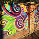 Роспись забора, авторский декор фасада, Декор, Шахты,  Фото №1